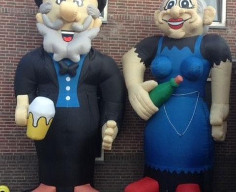 Traditionele Abraham en Sarah pop